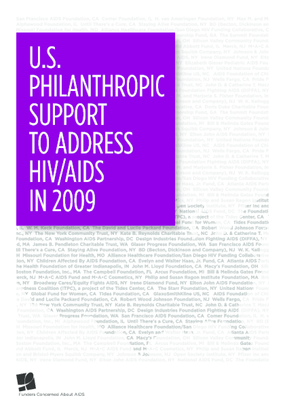 European Philanthropic Support to Address HIV/AIDS in 2009