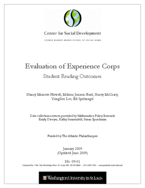 Evaluation of Experience Corps: Student Reading Outcomes