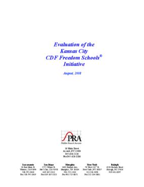 Evaluation of the Kansas City CDF Freedom Schools(R) Initiative