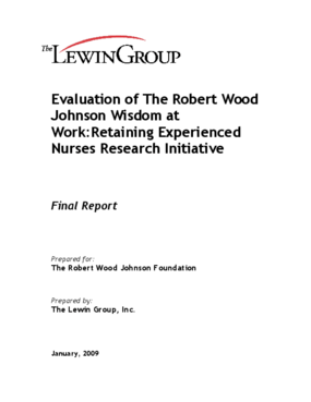 Evaluation of the Robert Wood Johnson Wisdom at Work: Retaining Experienced Nurses Research Initiative