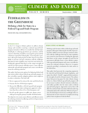 Federalism in the Greenhouse: Defining a Role for States in a Federal Cap-and-Trade Program