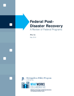 Federal Post-Disaster Recovery: A Review of Federal Programs