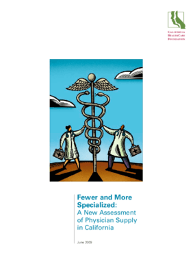 Fewer and More Specialized: A New Assessment of Physician Supply in California