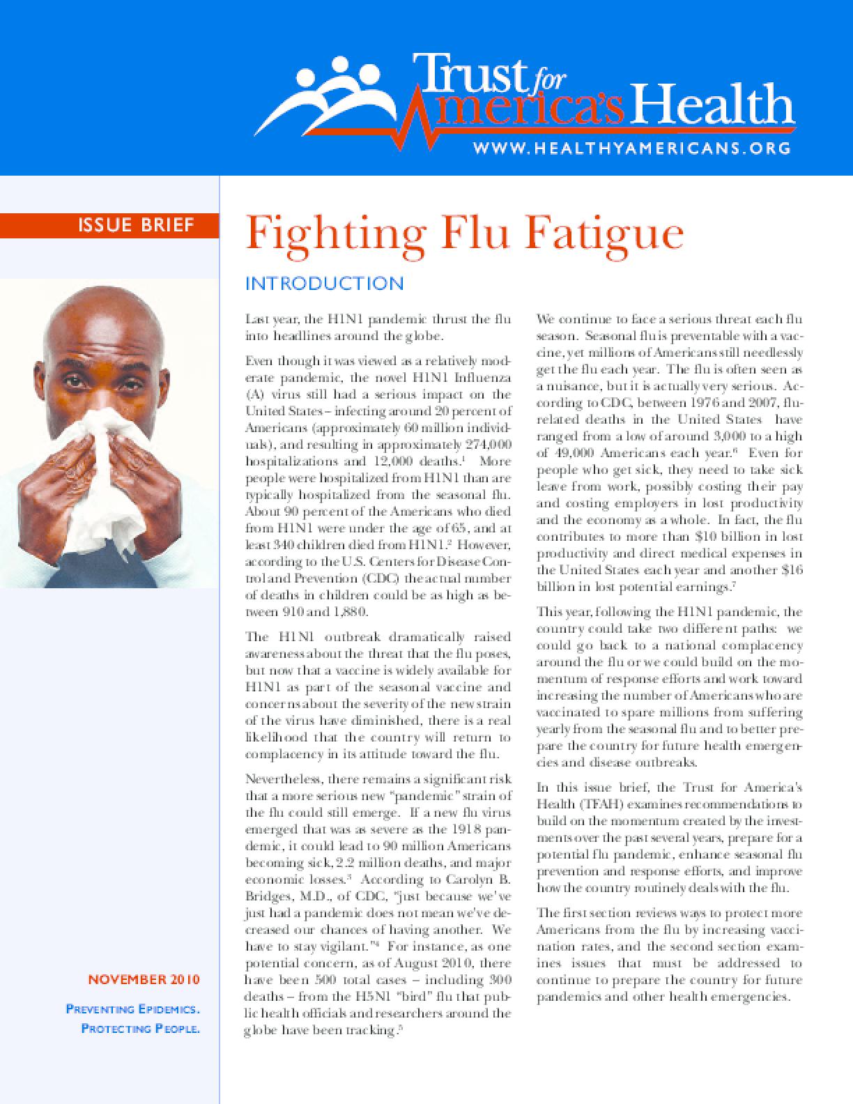 Fighting Flu Fatigue
