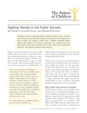 Fighting Obesity in the Public Schools