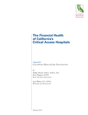 The Financial Health of California's Critical Access Hospitals