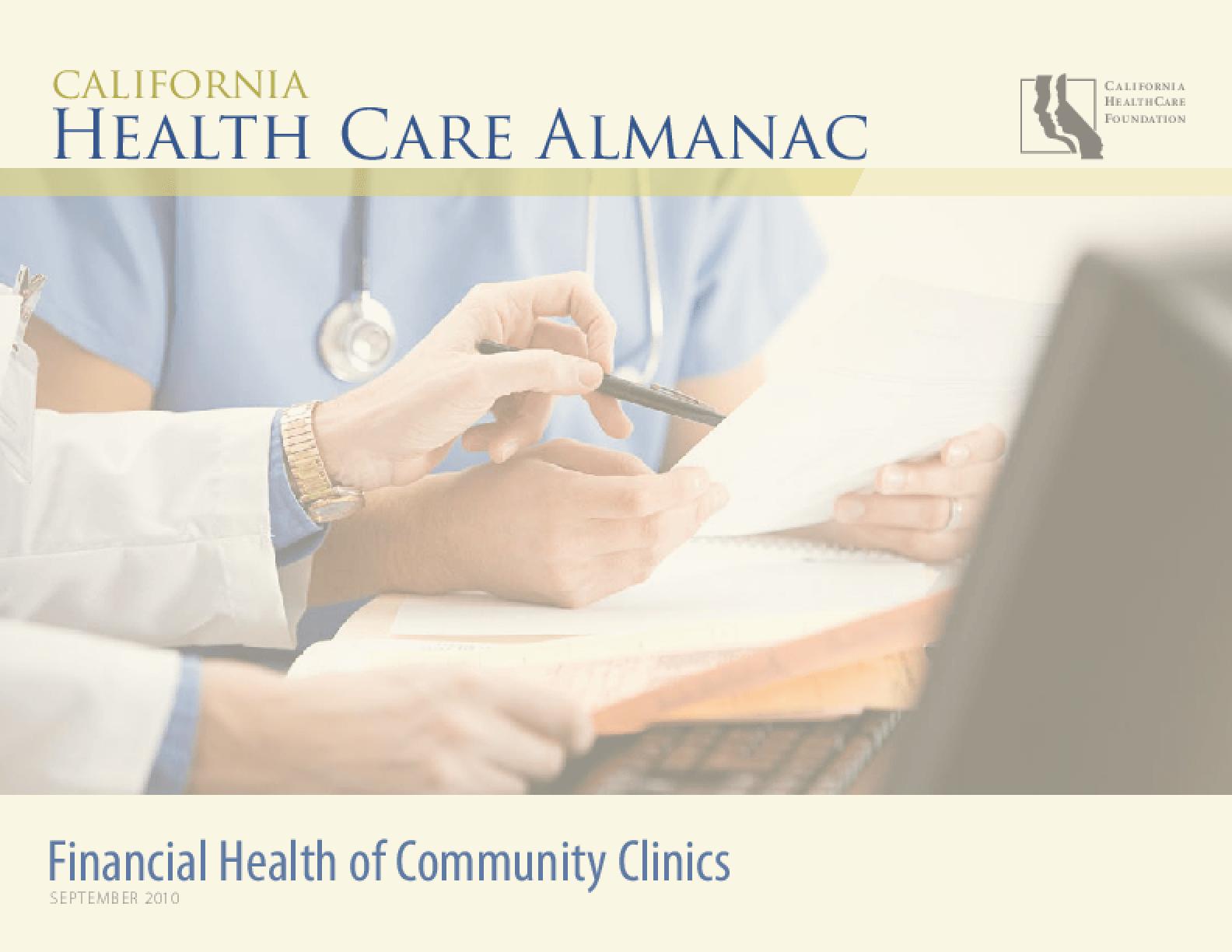 Financial Health of Community Clinics 2010