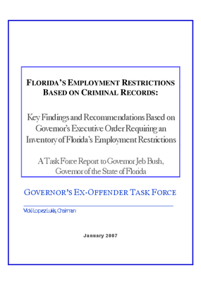 Florida's Employment Restrictions Based on Criminal Records