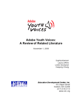 Adobe Youth Voices Literature Review