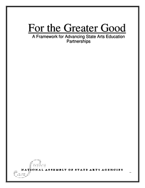 For the Greater Good: Frameworks for Advancing State Arts Education Partnerships