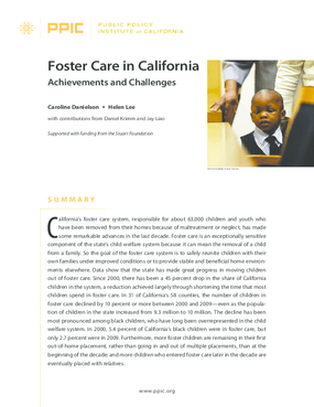 Foster Care in California: Achievements and Challenges