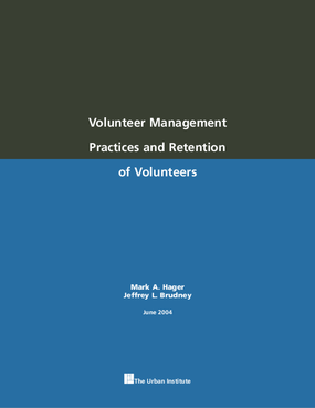 Volunteer Management Practices and Retention of Volunteers