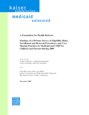 A Foundation for Health Reform: Findings of a 50 State Survey 2009
