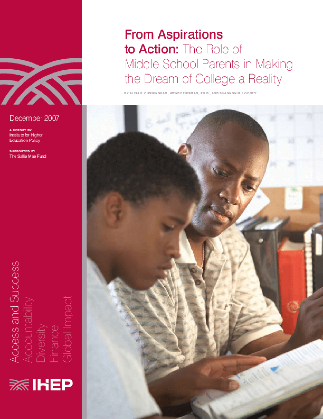 From Aspirations to Action: The Role of Middle School Parents in Making the Dream of College a Reality