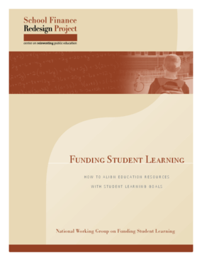 Funding Student Learning: How to Align Education Resources With Student Learning Goals