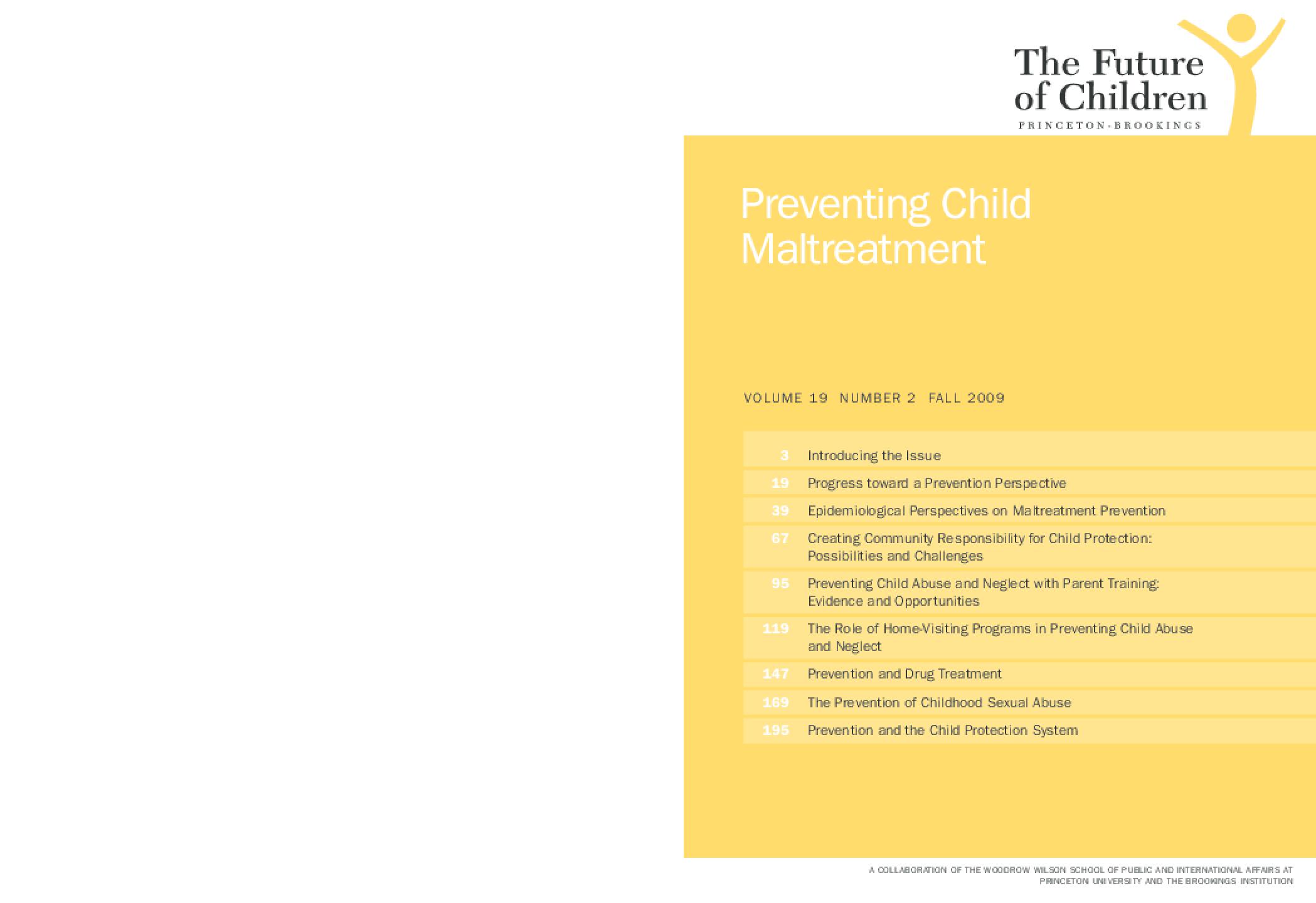 The Future of Children: Preventing Child Maltreatment
