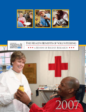 The Health Benefits of Volunteering: A Review of Recent Research