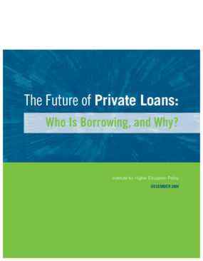 The Future of Private Loans: Who is Borrowing, and Why?