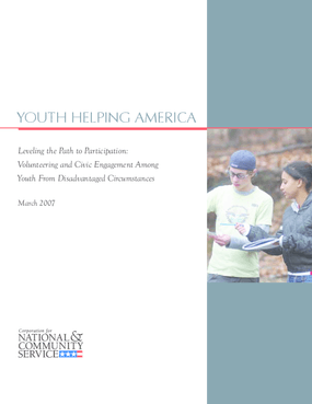 Leveling the Path to Participation: Volunteering and Civic Engagement Among Youth From Disadvantaged Circumstances