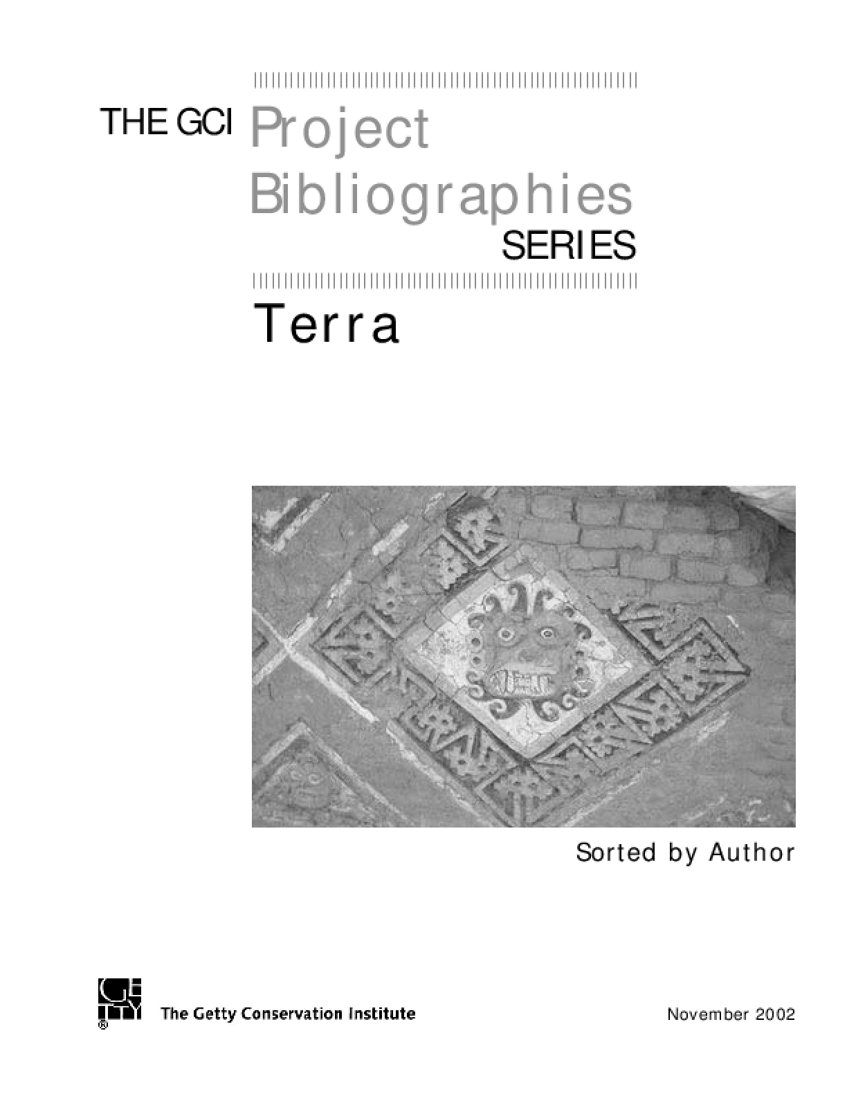 GCI Project Terra Bibliography (Sorted by Author)