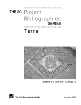 GCI Project Terra Bibliography (Sorted by Category)