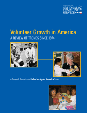 Volunteer Growth in America: A Review of Trends Since 1974