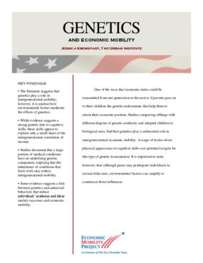 Genetics and Economic Mobility