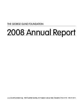 George Gund Foundation - 2008 Annual Report