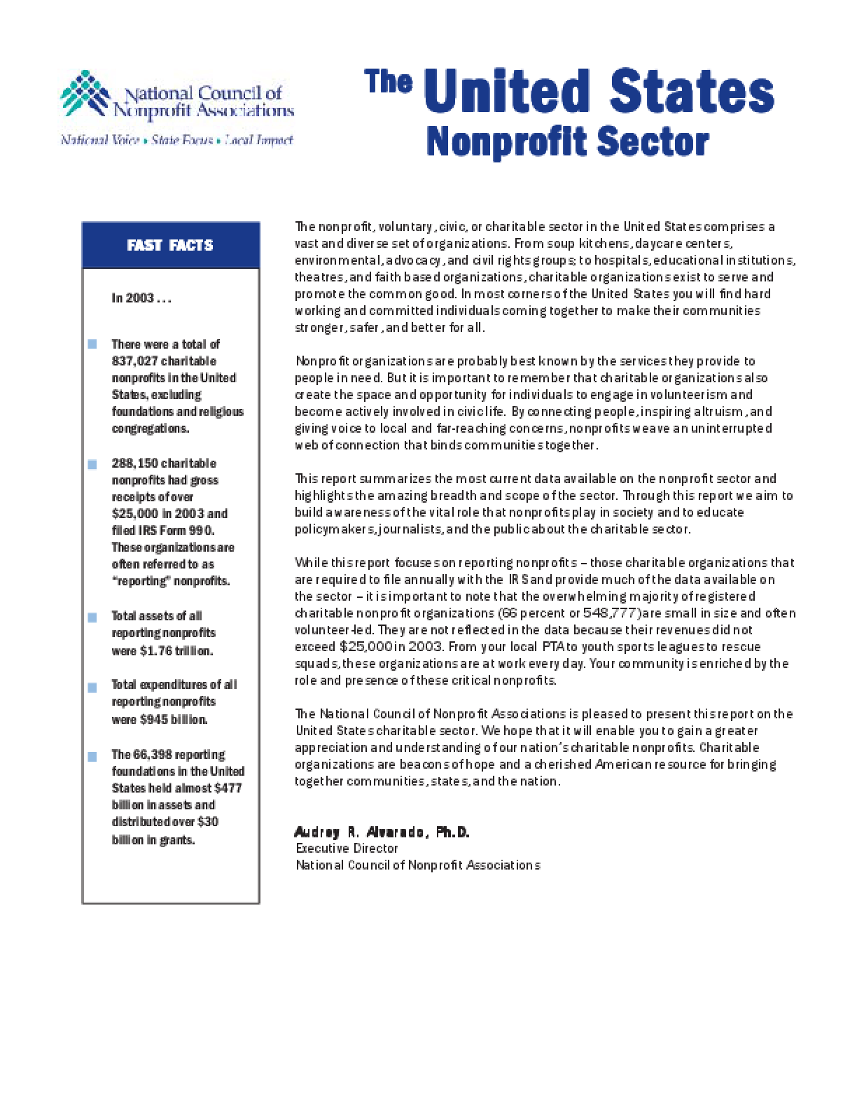 United States Nonprofit Sector 2003