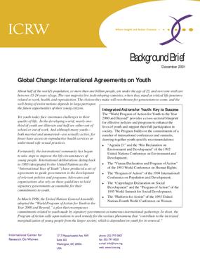 Global Change: International Agreements on Youth