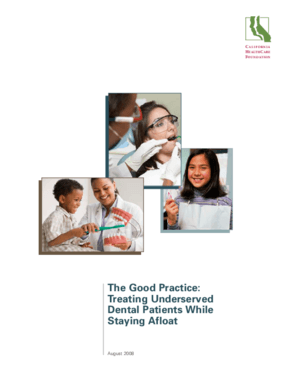 The Good Practice: Treating Underserved Dental Patients While Staying Afloat