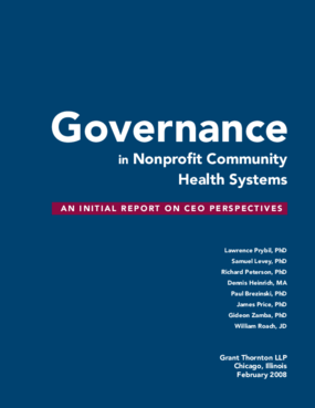 Governance in Nonprofit Community Health Systems: An Initial Report on CEO Perspectives