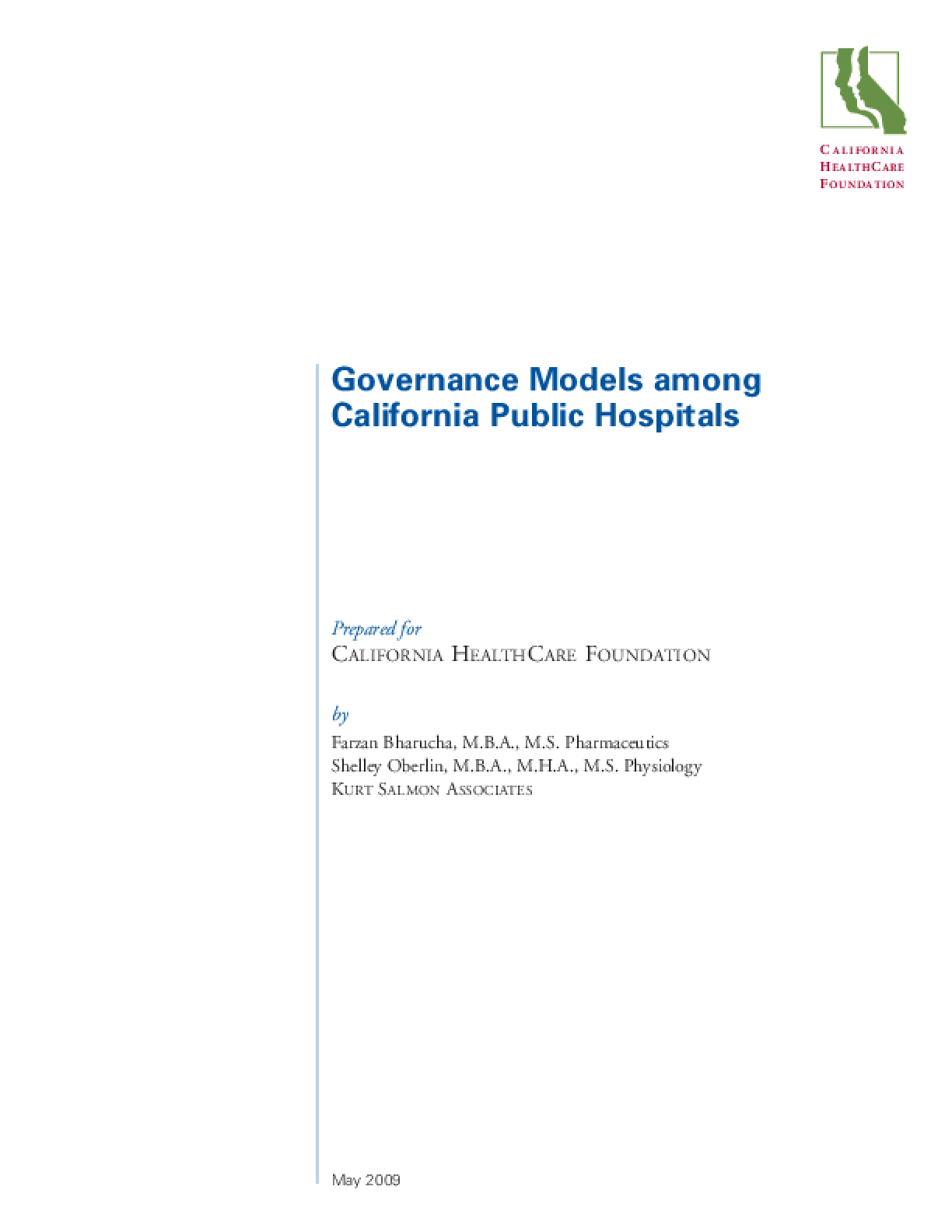 Governance Models Among California Public Hospitals