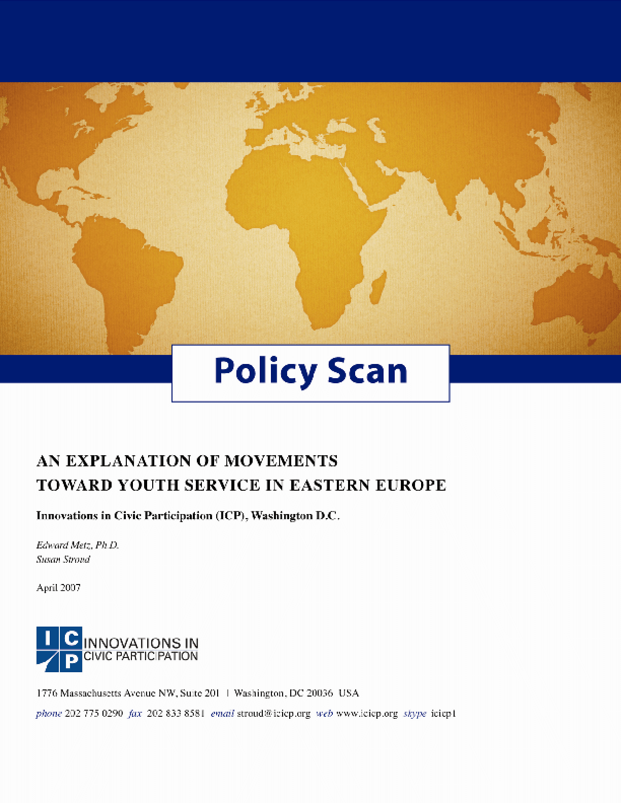 Policy Scan: An Explanation Of Movements Towards Youth Service In Eastern Europe