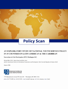 Policy Scan: An Exploratory Study of National Youth Service Policy in 19 Countries in Latin America and the Caribbean