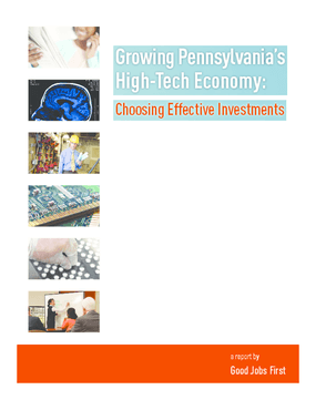 Growing Pennsylvania's High-Tech Economy: Choosing Effective Investments