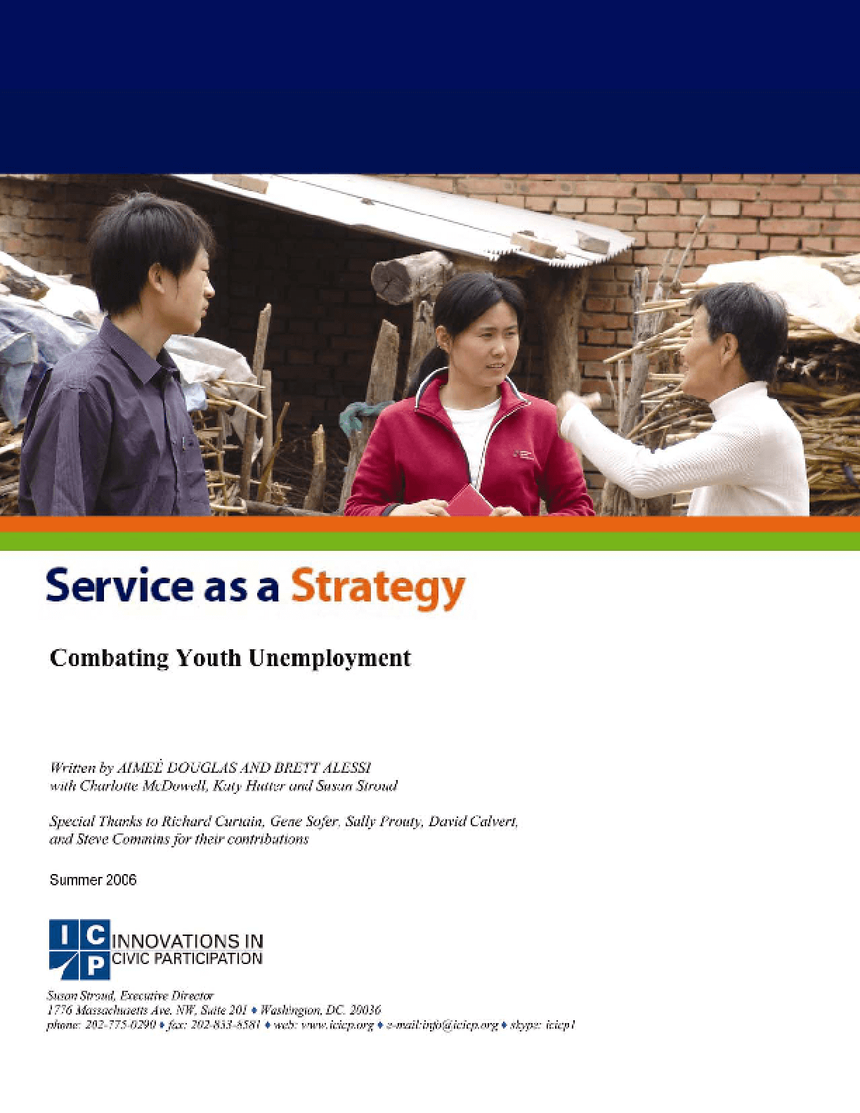 Service as a Strategy: Combating Youth Unemployment