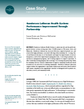 Gundersen Lutheran Health System: Performance Improvement Through Partnership