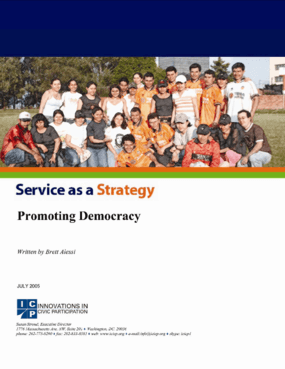 Service as a Strategy: Promoting Democracy