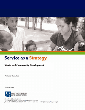 Service as a Strategy: Youth and Community Development