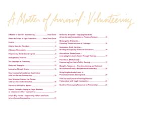 A Matter of Survival: Volunteering