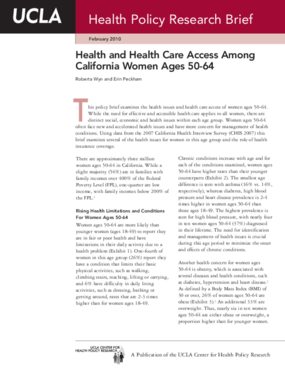 Health and Health Care Access Among California Women Ages 50-64