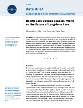 Health Care Opinion Leaders' Views on the Future of Long-Term Care