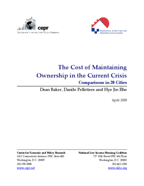 The Cost of Maintaining Ownership in the Current Crisis: Comparisons in 20 Cities