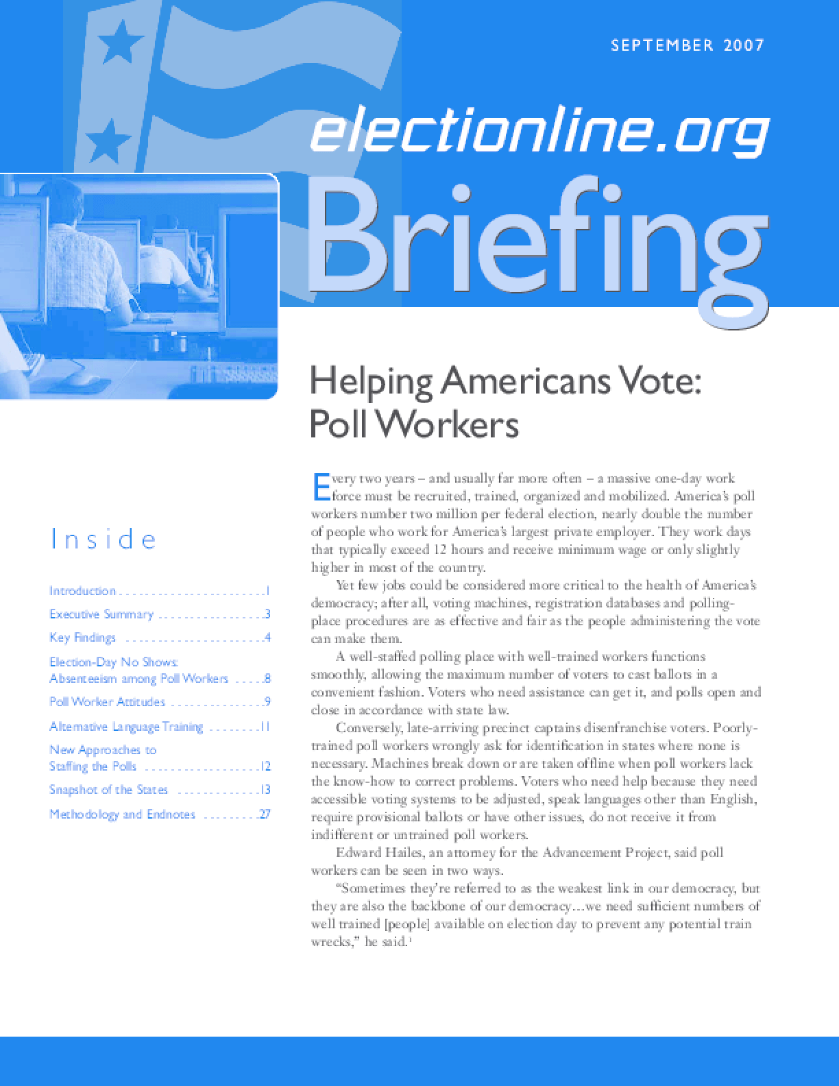Helping Americans Vote: Poll Worker Training