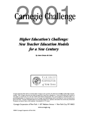 Higher Education's Challenge: New Teacher Education Models for a New Century
