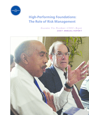 High-Performing Foundations: The Role of Risk Management - Executive Vice President COO's 2OO7 Annual Report