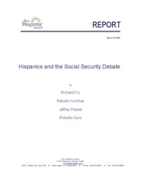 Hispanics and the Social Security Debate