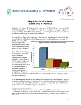 Hispanics in the News: An Event-Driven Narrative