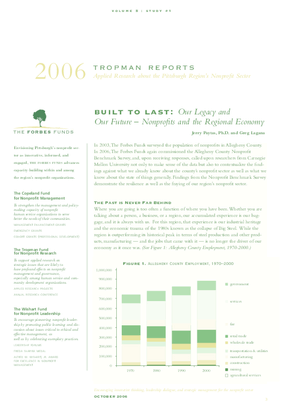 Built to Last: Our Legacy and Our Future -- Nonprofits and the Regional Economy